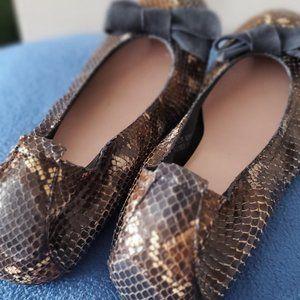 snake pattern shoe